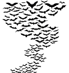 Bats flying around vector