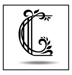Letter c made with leaves vector