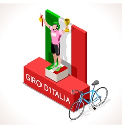 Cyclist 2016 giro winner isometric people vector