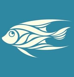 Abstract fish logo vector