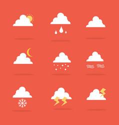 Art of weather set icon vector