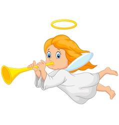 Cartoon cute angel vector image vector image