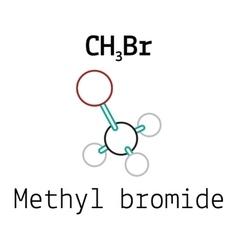 CH3Br methyl bromide molecule vector image vector image