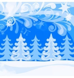 Christmas Low Poly Background Winter Forest vector image vector image