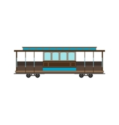 City railway tram transport vector