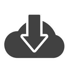 cloud download solid icon seo and website vector image vector image
