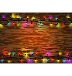 Colorful Christmas LED Lights vector image vector image