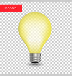 creative light bulb isolated transparent vector image vector image