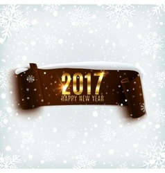 Happy New Year 2017 celebration background vector image