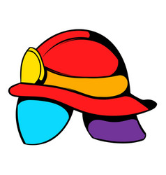 helmet for a firefighter icon icon cartoon vector image