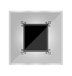 icon of an ancient painting in a frame vector image
