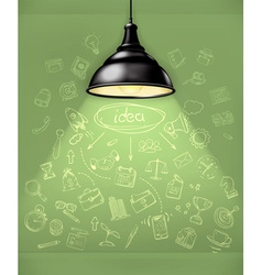 Idea business infographics vector image vector image