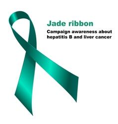 Jade ribbon vector image