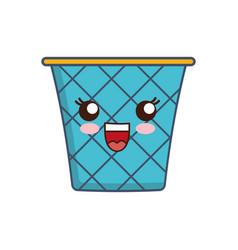 Kawaii trash icon vector