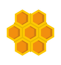 little honeycomb icon flat style vector image