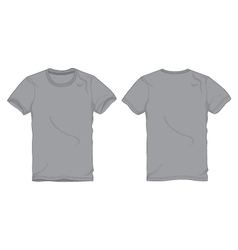 Men gray round neck t-shirt template vector