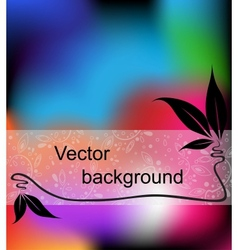 Multicolor background with space for your text vector image