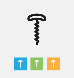 Of meal symbol on corkscrew vector
