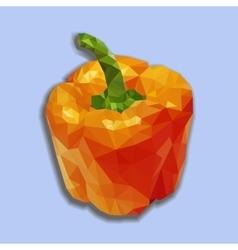 Orange polygonal capsicum vector