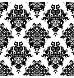 Ornate bold foliate seamless pattern vector