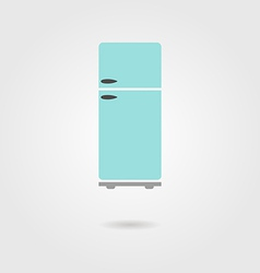 refrigerator icon with shadow vector image