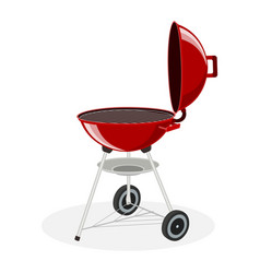Round barbecue grill vector