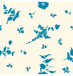 seamless silhouette flower vector image vector image