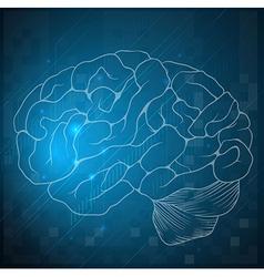 Sketch of a human brain vector image vector image