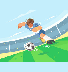 soccer player running with ball vector image