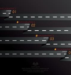 Street sign infographics design template vector