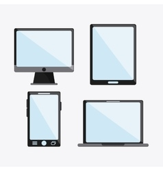 tablet smartphone laptop computer icon vector image