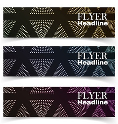 textural banners in grunge style vector image vector image