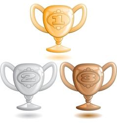 Three cups vector image