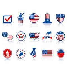 Election icons and buttons vector