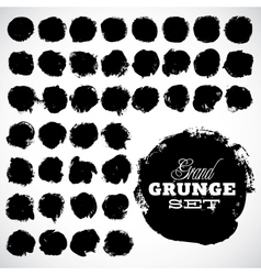 Abstract grunge ink draw shapes vector