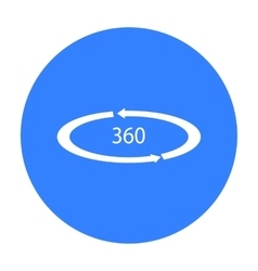 Rotation in the virtual reality icon in black vector image
