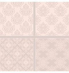 Creamy light seamless pattern vector