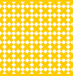 Tile yellow and white x cross pattern vector