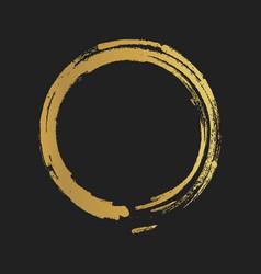 Golden grunge vintage painted shapes vector