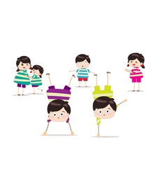 Energetic kids vector image