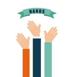 Hands up design vector