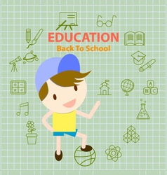 Back to school education info graphic vector