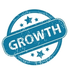 Growth round stamp vector