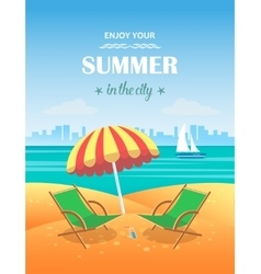Summer tropical poster background vector