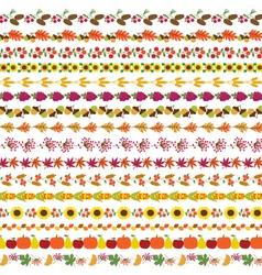 Autumn border patterns vector