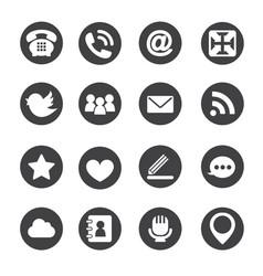 Web communication icons internet set vector image