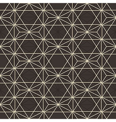 Abstract geometric hexagonal pattern vector