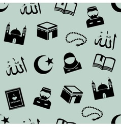 Seamless background with symbols of islam vector