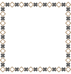 Simple geometric ethnic frame variation 2 vector