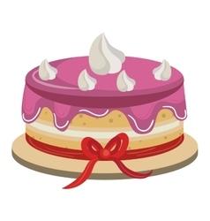 Delicious cake dessert isolated icon vector image